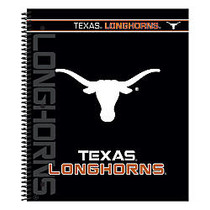 Markings by C.R. Gibson; Notebook, 9 1/8 inch; x 11 inch;, 3 Subject, College Ruled, 300 Pages (150 Sheets), Texas Longhorns