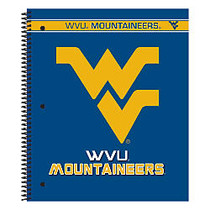 Markings by C.R. Gibson; Notebook, 9 1/8 inch; x 11 inch;, 3 Subject, College Ruled, 300 Pages (150 Sheets), West Virginia Mountaineers
