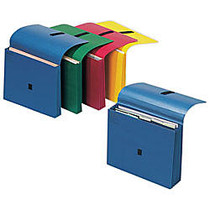 Wilson Jones; ColorLife; Expanding Wallet With Grip Closure, 3 1/2 inch; Expansion, Letter Size, 50% Recycled, Dark Blue