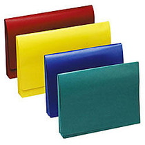 Wilson Jones; ColorLife; Expanding Wallet With Grip Closure, 3 1/2 inch; Expansion, Letter Size, 50% Recycled, Red