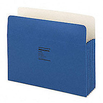 Wilson Jones; ColorLife; File Pockets, 9 1/2 inch; x 11 3/4 inch;, 3 1/2 inch; Expansion, 50% Recycled, Dark Blue, Box Of 25