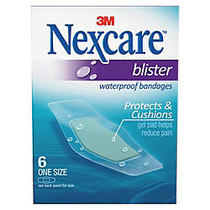 Nexcare Blister Waterproof Bandages, 1 1/16 inch; x 2 1/4, Clear, Box Of 6