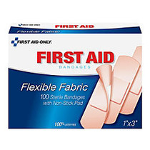 Physician's Care Latex-Free Fabric Bandages, Box Of 100