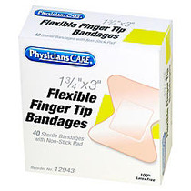 PhysiciansCare First Aid Fingertip Bandage - 1.75 inch; x 3 inch; - 1/Box - Natural