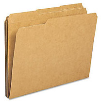 Sparco Top Tab File Folder - Letter - 8 1/2 inch; x 11 inch; Sheet Size - 1/3 Tab Cut - Assorted Position Tab Location - 11 pt. Folder Thickness - Kraft - Kraft - Recycled - 100 / Box
