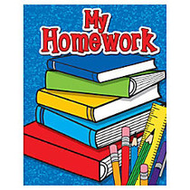 Teacher Created Resources My Homework Take-Home Pocket Folders, 9 1/2 inch; x 12 inch;, Multicolored, Pack Of 10