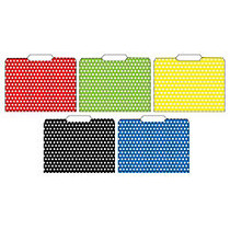 Top Notch Teacher Products File Folders, 8 1/2 inch; x 11 inch;, Polka Dots, 3 Packs Of 12