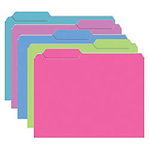 Top Notch Teacher Products File Folders, 9 1/2 inch; x 11 3/4 inch;, Galactic Colors, 4 Packs Of 10
