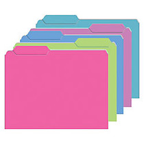 Top Notch Teacher Products Mini File Folders, 4 inch; x 6 inch;, Assorted Galactic Colors, 6 Packs Of 25