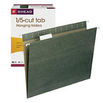 Smead; Premium-Quality Hanging Folders, 1/5 Cut, Letter Size, Standard Green, Pack Of 25
