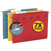 Smead; TUFF; Hanging File Folders With Easy Slide™ Tabs, Letter Size, Assorted Colors (No Color Choice), Box Of 15