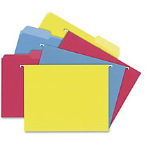 TOPS Hanging File Folders Kit - Letter - 8 1/2 inch; x 11 inch; Sheet Size - 3/4 inch; Expansion - 1/3 Tab Cut - 11 pt. Folder Thickness - Stock - Assorted - 24 / Box