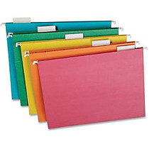 TOPS Recycled 1/5 Cut Hanging Folders - Letter - 8 1/2 inch; x 11 inch; Sheet Size - 1/5 Tab Cut - Stock - Assorted - 20 / Box
