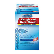 PhysiciansCare Cough And Sore Throat Lozenges, Cherry Flavor, Box Of 50 Lozenges