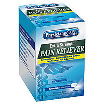 PhysiciansCare Extra Strength Pain Reliever, 2 Per Pack, Box Of 50 Packs
