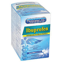 PhysiciansCare Ibuprofen Pain Reliever Medication, 2 Tablets Per Packet, Box Of 50 Doses