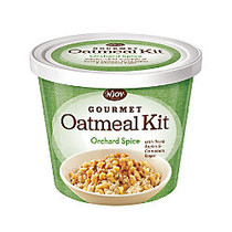 N' Joy; Oatmeal With Gourmet Toppings, Orchard Spice, 20.4 Oz, Pack Of 8