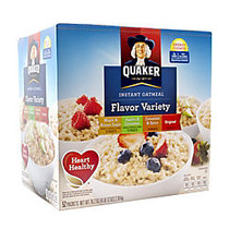Quaker Oatmeal Flavor Variety Pack, Box of 52