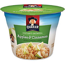 Quaker; Express Oatmeal Cups, Apples & Cinnamon, 1.5 Oz, Pack Of 24