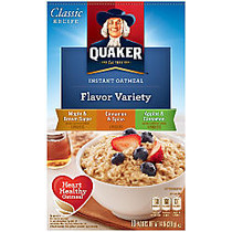 Quaker; Instant Oatmeal Flavor Variety Packs, 1.51 Oz, Pack Of 10, Case Of 12