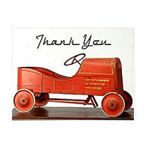 Retrospect Thank You Note Cards With Envelopes, 4 1/2 inch; x 5 7/8 inch;, Vintage Peddle Car 1910, Box Of 10