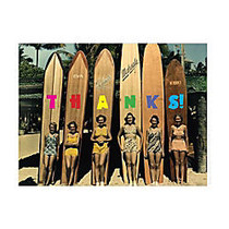 Retrospect Thank You Note Cards With Envelopes, 4 1/2 inch; x 5 7/8 inch;, Waikiki Surfer 1930 - 1940, Box Of 10