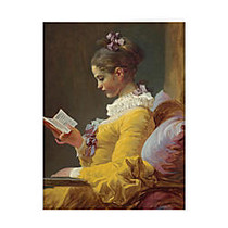 Retrospect Thank You Note Cards With Envelopes, 4 1/2 inch; x 5 7/8 inch;, Young Girl Reading, Box Of 10