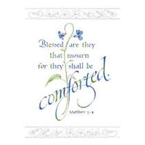 Sunrise Sympathy Cards, Religious, Blessed Are They That Mourn