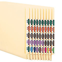 Smead; BCCRN Bar-Style Tab; Permanent End-Tab Numerical Label Kit, Box Of 5,000 Labels