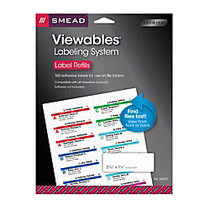 Smead; Viewables; Multipurpose Labels, Refill Kit, White, Pack Of 160 Labels