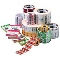 Zebra; Z-Select; 4000T Paper Thermal Transfer Labels, 1 1/4 inch; x 2 1/4 inch;, White, Roll Of 2,100