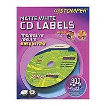 CD Stomper; Matte White Inkjet/Laser CD Labels, Pack Of 300
