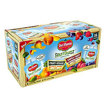 DelMonte Fruit Burst Squeezers Variety Pack, Box of 16