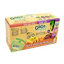 Materne GoGo Squeez Pouches, Organic Fruit And Veggiez, 3.2 Oz, Box Of 16