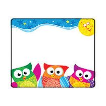 TREND Name Tags, 3 inch; x 2 1/2 inch;, Owl-Stars!™, 36 Tags Per Pack, Set Of 6 Packs