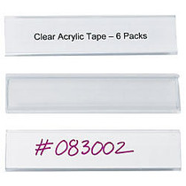 Wire-Rac™ Snap-On Label Holders, 1 5/16 inch; x 6 inch;, Clear, Box Of 25