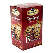 THINaddictives Cranberry Almond Thins, 3 Thins Per Pack, Box Of 15 Packs