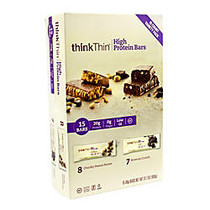thinkTHIN High Protein Bars, 60 Grams, Box Of 15, Assorted
