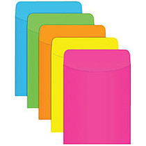 Top Notch Teacher Products; Neon Pockets, 5 1/2 inch; x 3 1/2 inch;, Assorted Colors, Pack Of 35, Case Of 5