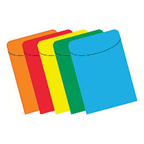 Top Notch Teacher Products; Peel & Stick Brite Primary Pockets, 5 1/2 inch; x 3 1/2 inch;, Assorted Colors, Case Of 375