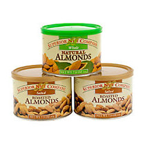 Superior Nut Nuts, Salted Roasted Almonds, 7.5 Oz, Box Of 3