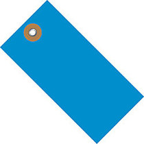 Tyvek; Shipping Tags, #5, 4 3/4 inch; x 2 3/8 inch;, Blue, Box Of 100