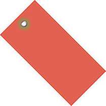 Tyvek; Shipping Tags, #5, 4 3/4 inch; x 2 3/8 inch;, Red, Box Of 100