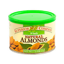 Superior Nut Nuts, Whole Natural Almonds, 7.5 Oz, Box Of 12