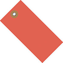 Tyvek; Shipping Tags, #8, 6 1/4 inch; x 3 1/8 inch;, Red, Box Of 100