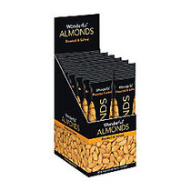 Wonderful Dry Roasted And Salted Almonds, 1.5 Oz, Box Of 12