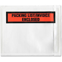 Sparco Pre-Labeled Waterproof Packing Envelopes - Packing List - 4.50 inch; Width x 5.50 inch; Length - Self-adhesive Seal - Low Density Polyethylene (LDPE) - 1000 / Box - White