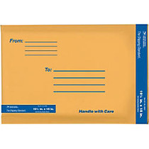 USPS; Premium Kraft Bubble Mailers, #5, 10 1/2 inch; x 15, Pack Of 6