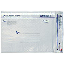 USPS; Premium Poly Bubble Mailer, #5, 12 inch; x 17 5/8 inch;, White