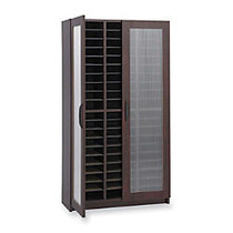 Safco; Frosted Door Literature Organizer, 58 1/4 inch;H x 30 inch;W x 14 inch;D, Mahogany
